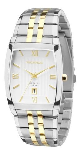 Relógio Technos Quadrado Masculino Executive 1n12mq/5b + Nf