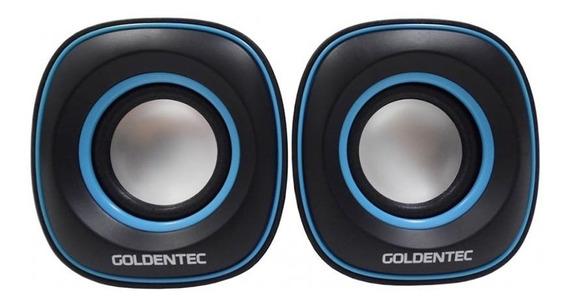 Caixa De Som 6.0w Rms Goldentec Gt Sound Preto/azul - Ap0384