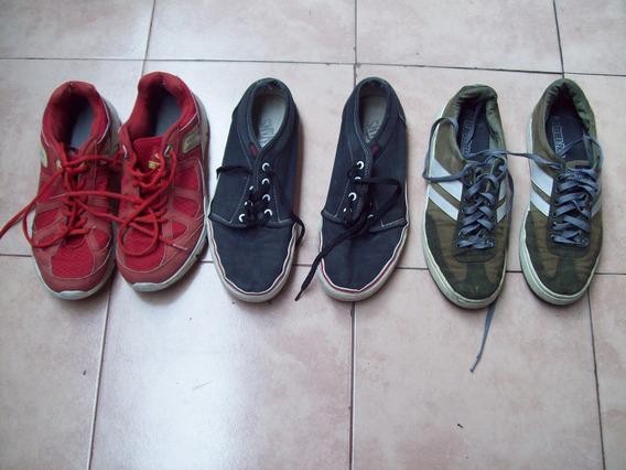 Tres Pares De Zapatillas Nº 42