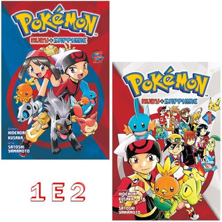 Pokémon Ruby & Sapphire 1 E 2 Mangá Panini! Novo E Lacrado!