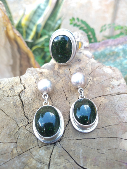Conjunto Pedra Da Estrela Verd Em Prata 950 - Pronta Entrega