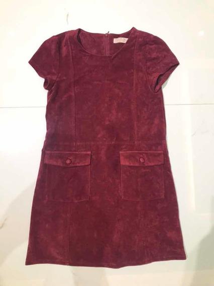 Lindo Vestido Curto Da Zara Girls! Tamanho 10! Promoção!