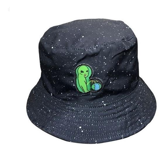 Chapeu Bucket Hat Et Dois Lados Mundo Moda Unisex Alien