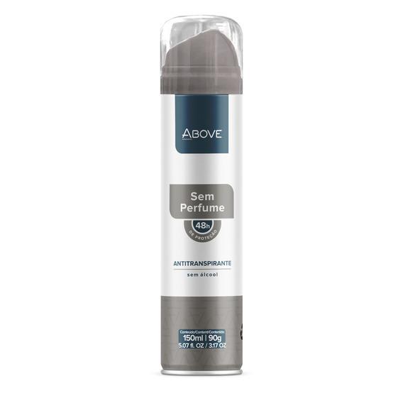 Antitranspirante Unisex Above Sem Perfume 150ml Proteção 48h