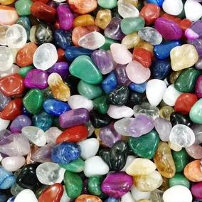 Pedras 2-4cm Semipreciosas Brasileiras Mistas Polidas - 500g