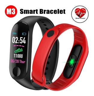3 Smart Band Watch M3 Ritmo Cardiaco Podometro Presion Sport