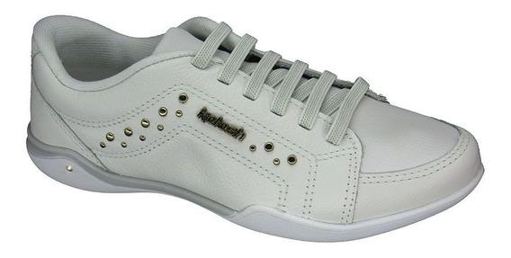 Tênis Feminino Casual Couro Kolosh C1601 Branco