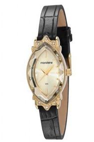 Relógio Feminino Mondaine Pulseira Couro 83291lpmvdh1 Vintag