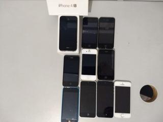 Lote Com Dez(10) Iphones Para Conserto Ou Retirar Peças
