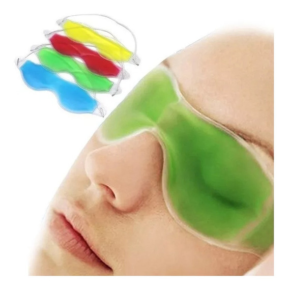 Antifaz Gel Térmico Descansa Ojos Dormir Migraña Ojeras Full