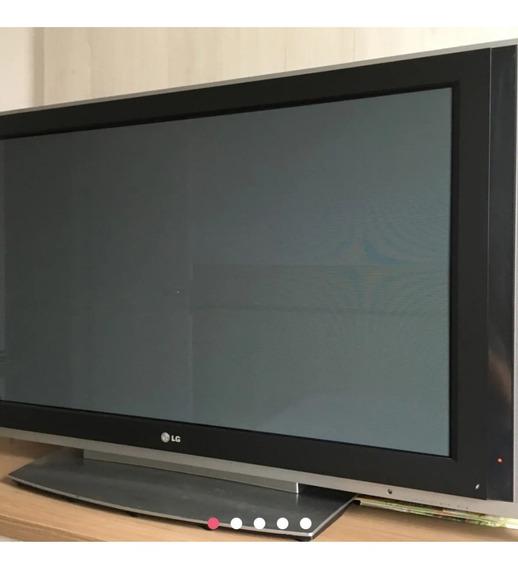 Tv LG Plasma 42 P/tirarpeças.ela Só Não Tem Imagem.