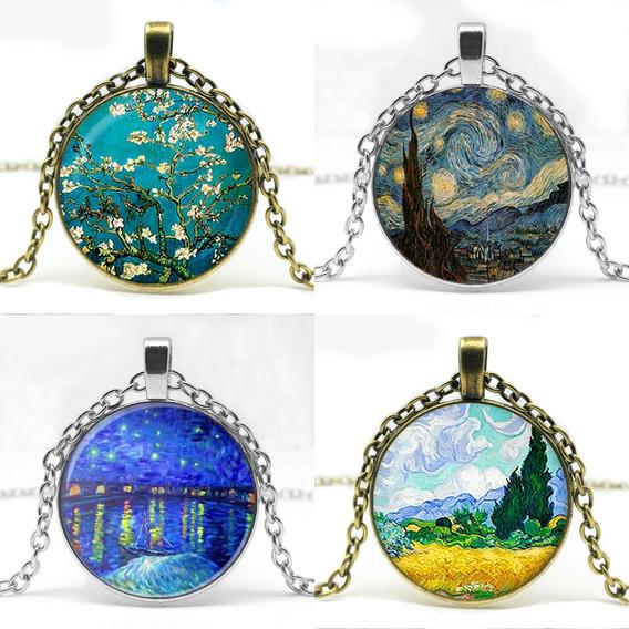 Colar Van Gogh Pingente Arte Pinturas Noite Estrelada