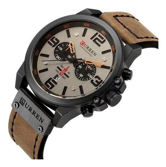 Relógio Top Curren Barato Marca De Luxo Mens Quartz Oferta