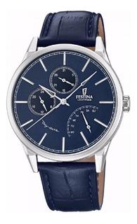 Reloj Festina Hombre Cuero Azul Oficial F20278.3