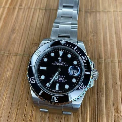 Relógio Rolex Submariner Cerâmica Aço 904l