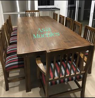 Mesa De Quincho + 12 Sillas Super Promoción