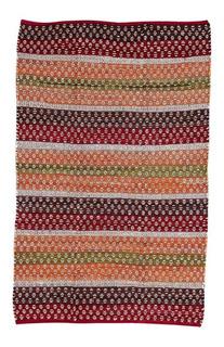 Alfombra Bangalore Roja Okko Yute 120x180 Rojo