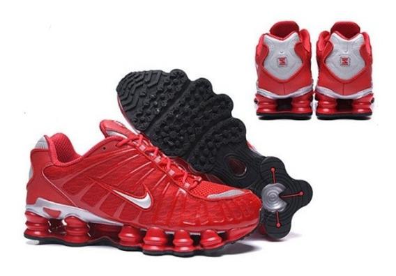 Tênis Nike Shox Tlx 12 Molas Prateado Masculino Original