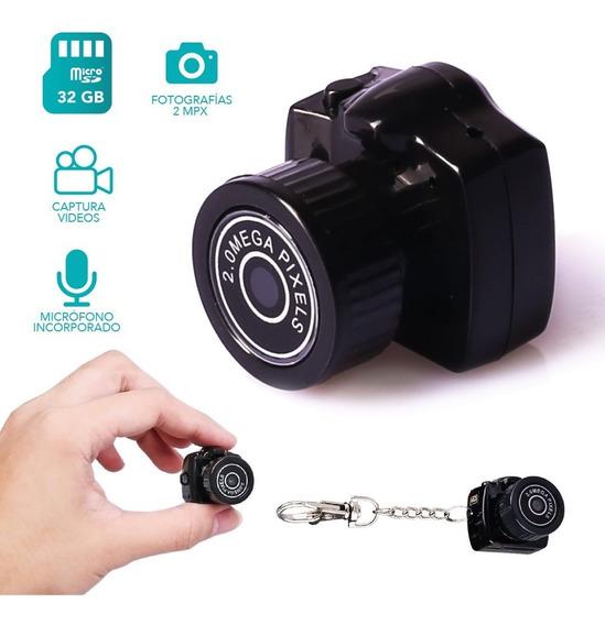 Mini Camara Espia Oculta Pequeña Micrófono Seguridad Foto Hd Uso Interno Espionaje Bateria De Litio Soporta Micro Sd