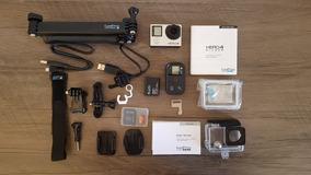 Câmera Gopro Hero 4 Silver C/ Vários Acessórios Originais