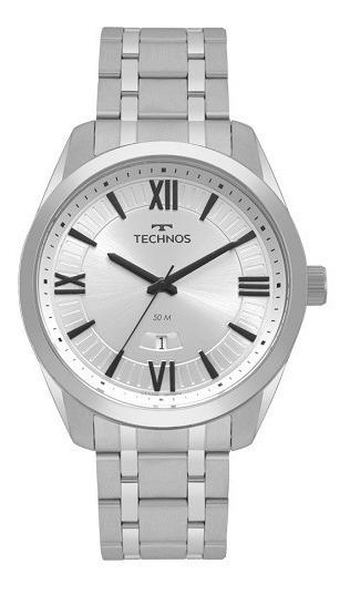Relógio Technos Masculino Prata Steel Analógico 2115msq/1k