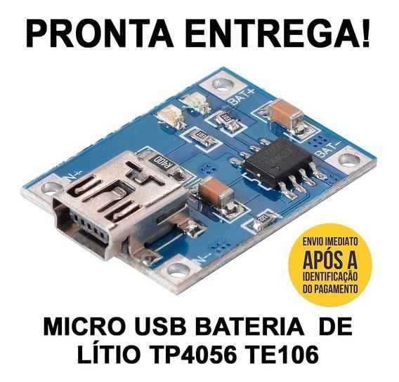 5 Placas Carregador Bateria Tp4056 Mini Usb Litio Arduino!