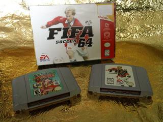N64 Juegos Banjo Tooie Y Fifa Soccer 64 Con Caja Y Manual