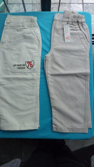 Pantalón Largo Para Niño De Lino Y Poplin- Talles:-4