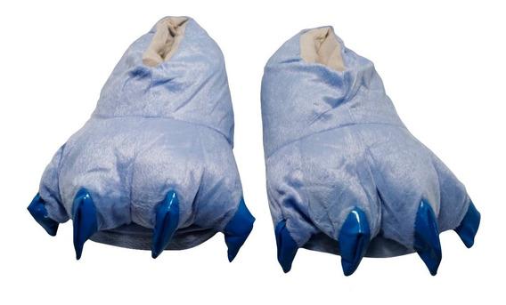 Pantuflas De Garra Azules Térmicas Para Pijama Envío Gratis