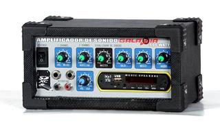 Amplificador De Sonido Con Entrada Usb Y Bluetooh