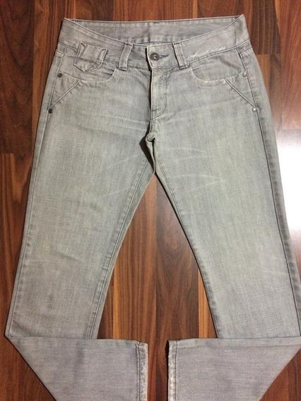 Calça Jeans Feminina Zoomp New Rock 40 Cinza Original Oferta
