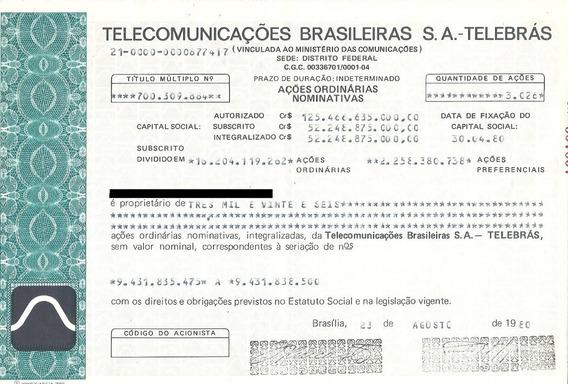 Apólice Telecomunicações Brasileiras S.a. - Telebrás