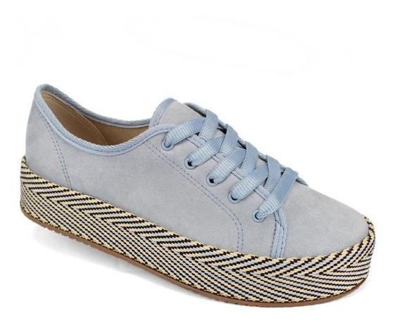 Tênis Feminino Flatform Camurça Jeans Beira Rio 4194.602