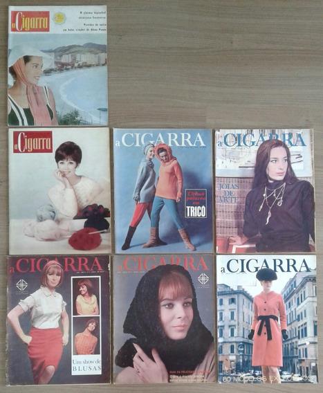 Lote Com 07 Edições Da Revista A Cigarra, Década De 1960
