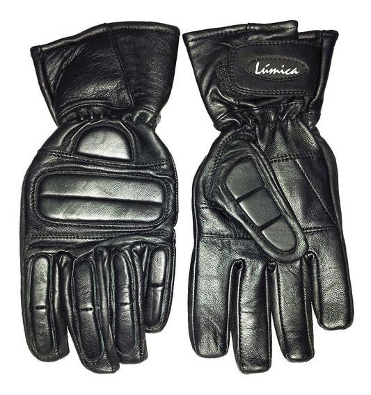 Luva Proteção Mãos Moto Motociclista Masc Lumica Couro 150