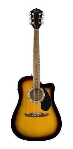 Fender Guitarra Electroacústica Fa-125ce Dreadnought Sunburs