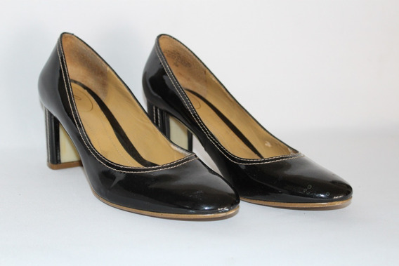 Zapatos Dama Negros De Charol 7 Eua-mex 4 Envio Gratis