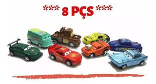Carros Relâmpago Mcqueen Kit 8 Carrinhos *envio Imediato*