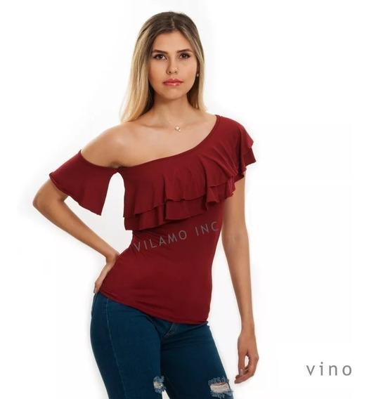 Blusa Para Damas Vilamo Diseño Original A La Moda Ref: 1314