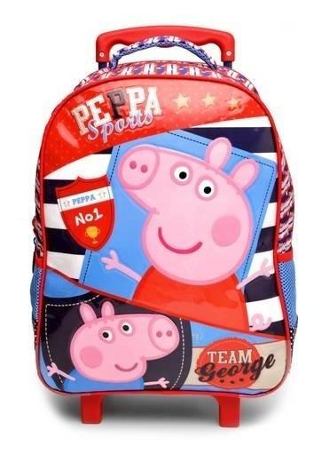 Mochila De Rodinhas Xeryus Infantil 16 Peppa Pig Sports Azul
