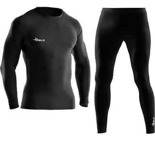 Conjunto Termico Frizado. Camiseta Termica + Calza Termica
