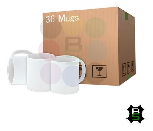 Caja Mug Blanco X 36 Para Sublimación 11oz