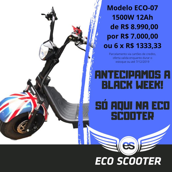 Scooter Elétrica 1500 W 12a C/ 2 Bancos - Eco Scooter