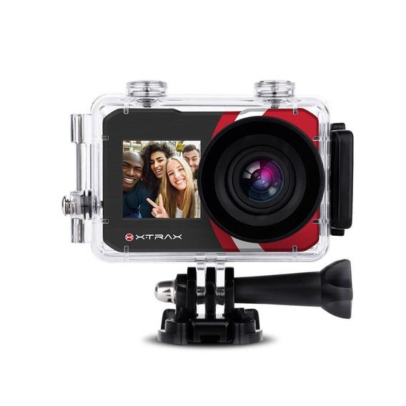 Câmera Xtrax Selfie Preta 801020+nota Fiscal