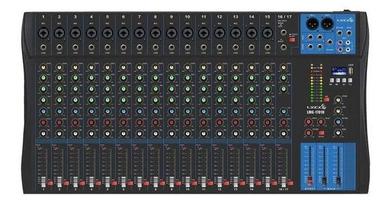 Mesa De Som Mixer Lyco 17 Canais Lmg1701u Usb Padrão Yamaha