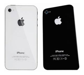 Tampa Traseira Vidro Fundo iPhone 4s Preto / Branco A1387