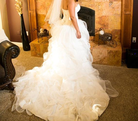Vestido De Novia Corte Princesa Incluye Armador Y Velo