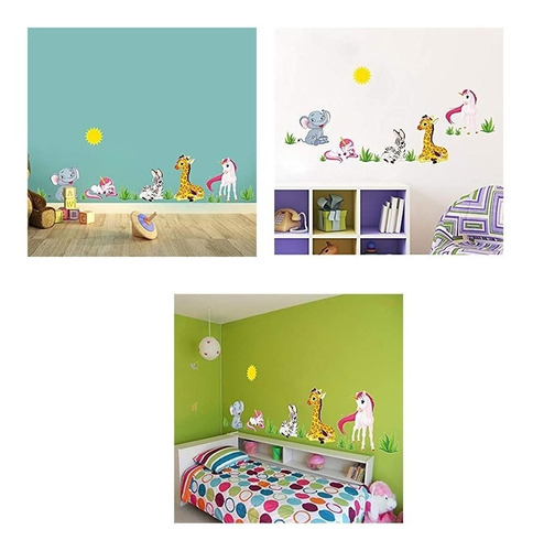 Vinilos Decorativos Adhesivos Pared Princesas Unicornio Sk9