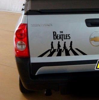 Adesivo The Beatles Abbey Road Carro Moto 30cm