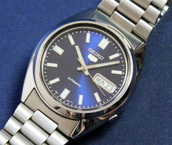Relógio Seiko 5 Snxs77 Automático - Todo Em Aço 38 Mm 7s26